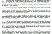 Comunicado caso de COVID-19 - EB1/JI D. Francisca de Aragão