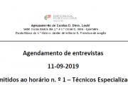 Agendamento de Entrevistas - Psicólogos 2019-2020