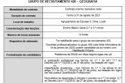 AVISO – CONTRATAÇÃO DE ESCOLA - Grupo 420