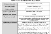 AVISO – CONTRATAÇÃO DE ESCOLA - Grupo 300