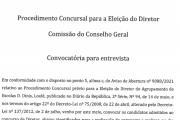 Convocatória para Entrevista - Eleição do Diretor