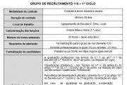 AVISO – CONTRATAÇÃO DE ESCOLA - Grupo 110 - H23
