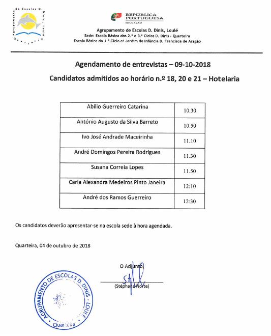 AgendamentoEntrevistah18h20h21