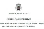 Pedido de Transporte Escolar - Formulário