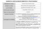 AVISO – CONTRATAÇÃO DE ESCOLA - Grupo 510 - H39