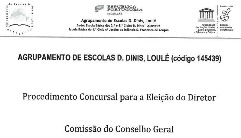 Procedimento Concursal Eleicao do Diretor